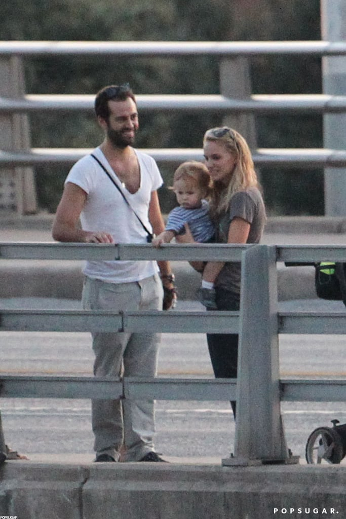 Natalie Portman and Benjamin Millepied checked out bats with Aleph in Texas.
