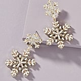 BaubleBar Snowflake Drop Earrings