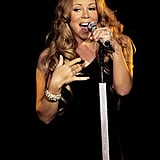 Mariah Carey belted it out.