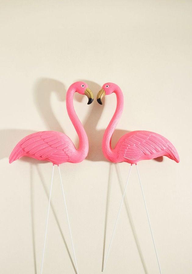 Pink Lawn Ornament Set