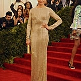 Cameron Diaz wore a beaded Stella McCartney gown to the Met Gala.