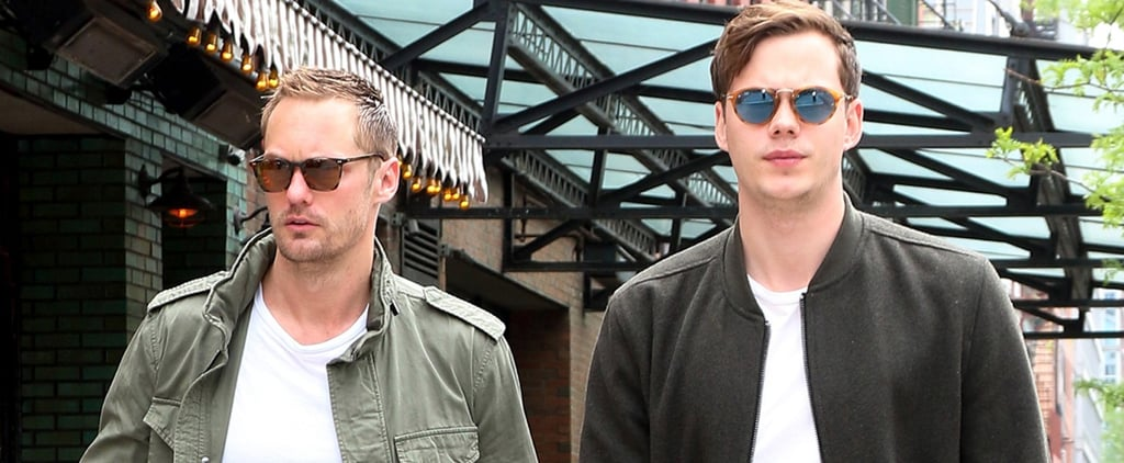 Alexander and Bill Skarsgard Out in NYC May 2017