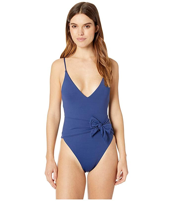 58576219dbd Isabella Rose Double Take Sash One-Piece | Iskra Lawrence Blue ...