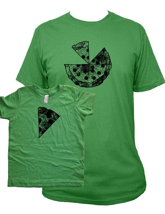 Matching Father and Child Pizza Shirts