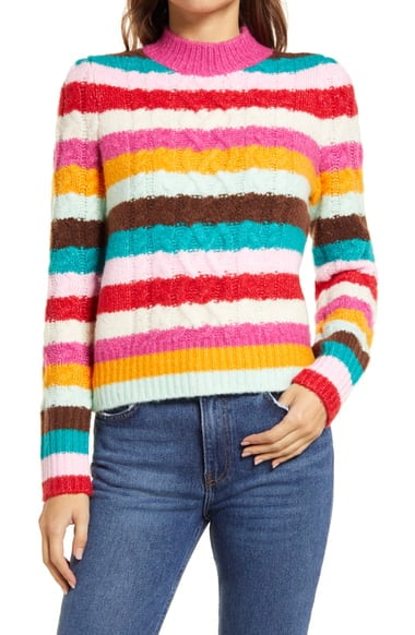 Halogen x Atlantic-Pacific Cable Knit Sweater
