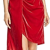 Kenneth Cole Twist Wrap Velvet Dress