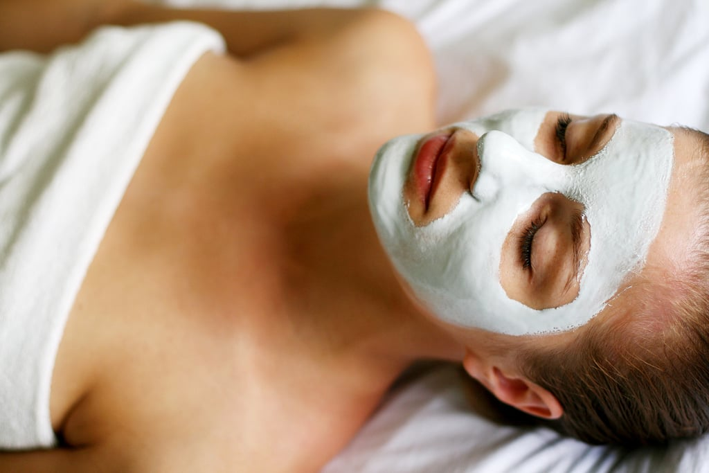Create a cucumber and clay mask