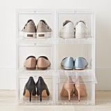 Small Drop-Front Shoe Box Case of 6