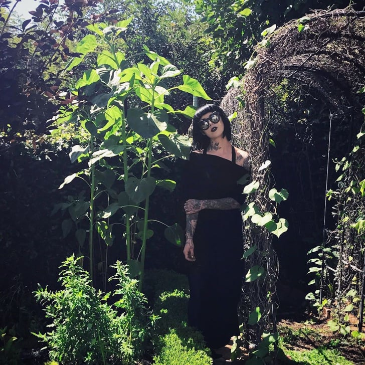 Kat Von D S Black Flower Garden Popsugar Home