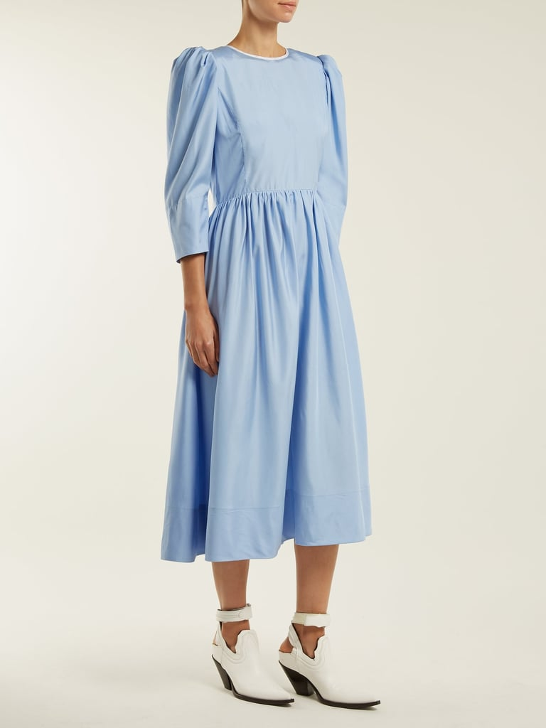 Anna October Tie-Back Cut-Out Silk Dress