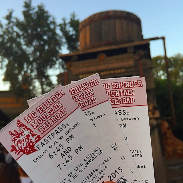 You have Fastpass scheduling down to a science.
