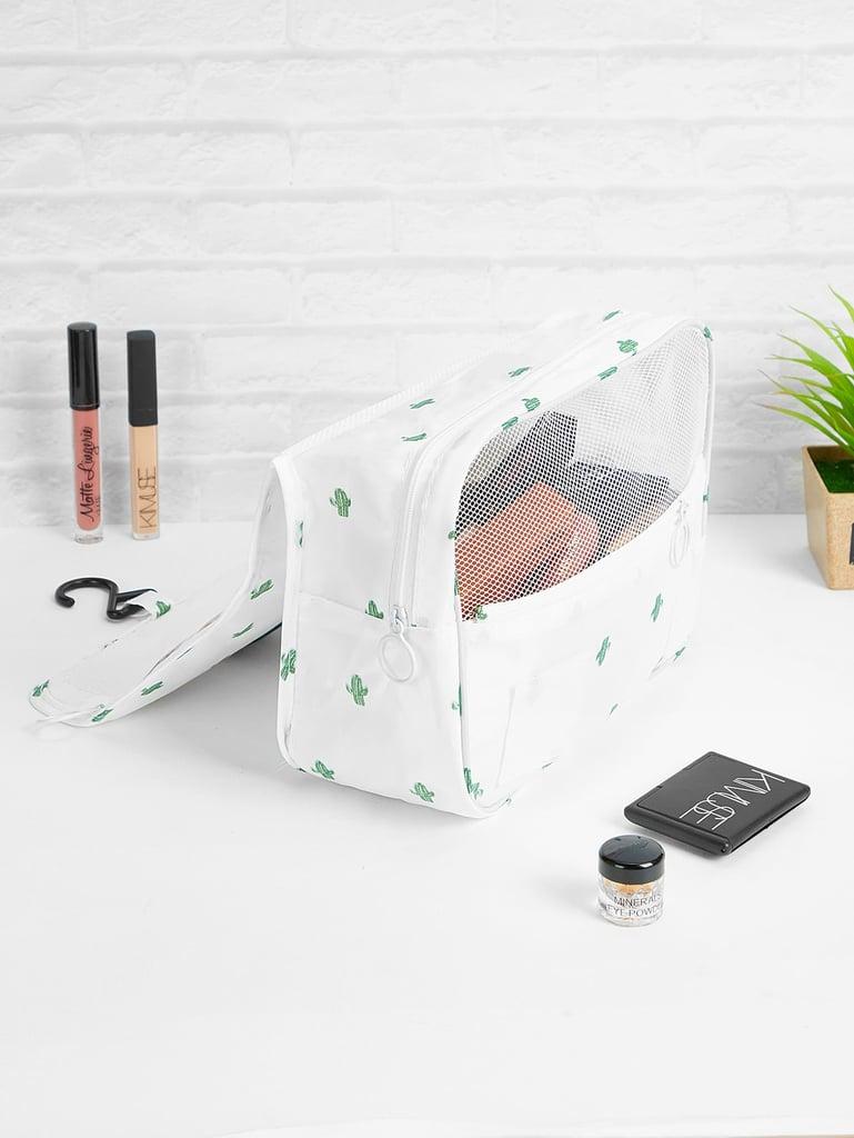 Cactus Print Cosmetic Storage Bag