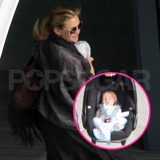 Baby Bing Takes Off With Kate Hudson and Matt Bellamy — See His Cute Face!