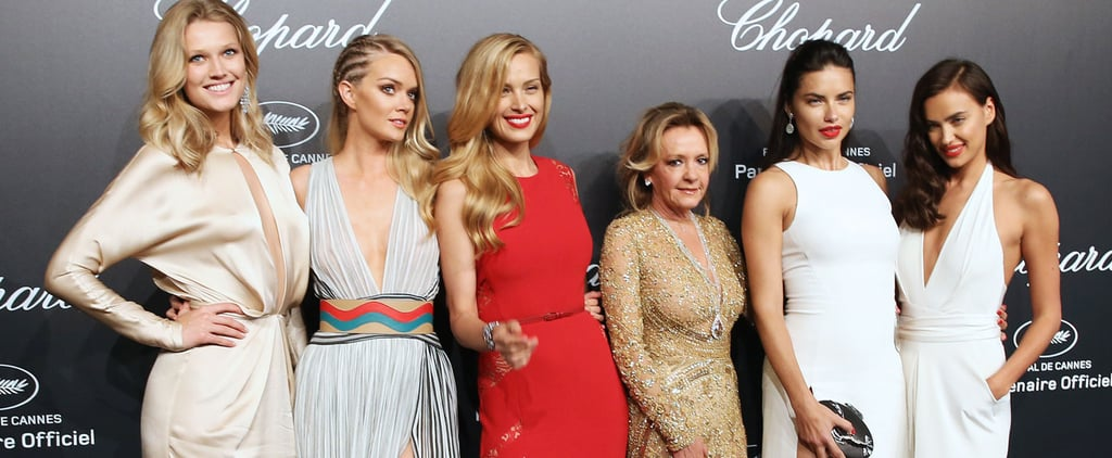 Models at the Chopard Gold Party at Cannes Film Festival