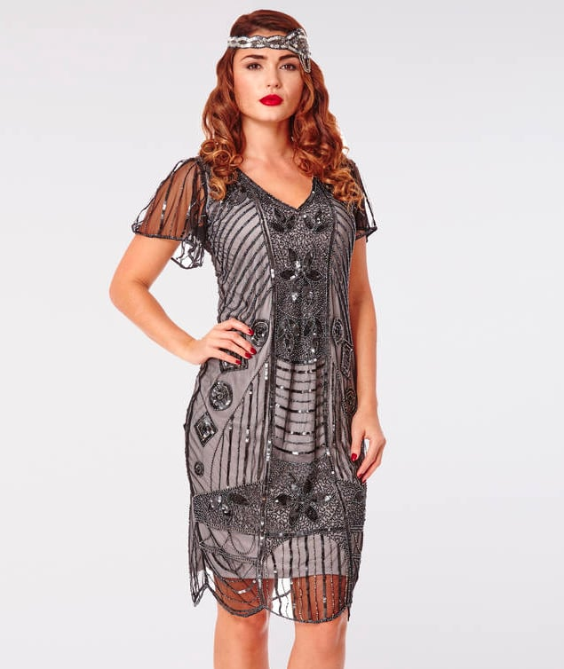 Daisy Gatsby Inspired Hand Embellished Flapper Dress