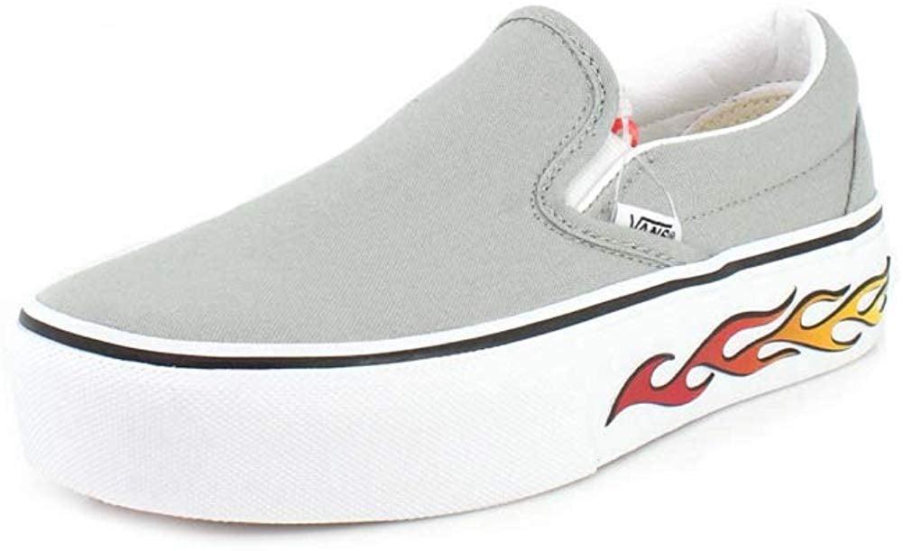 Vans Unisex Sidewall Flame Slip-On Platform Sneaker
