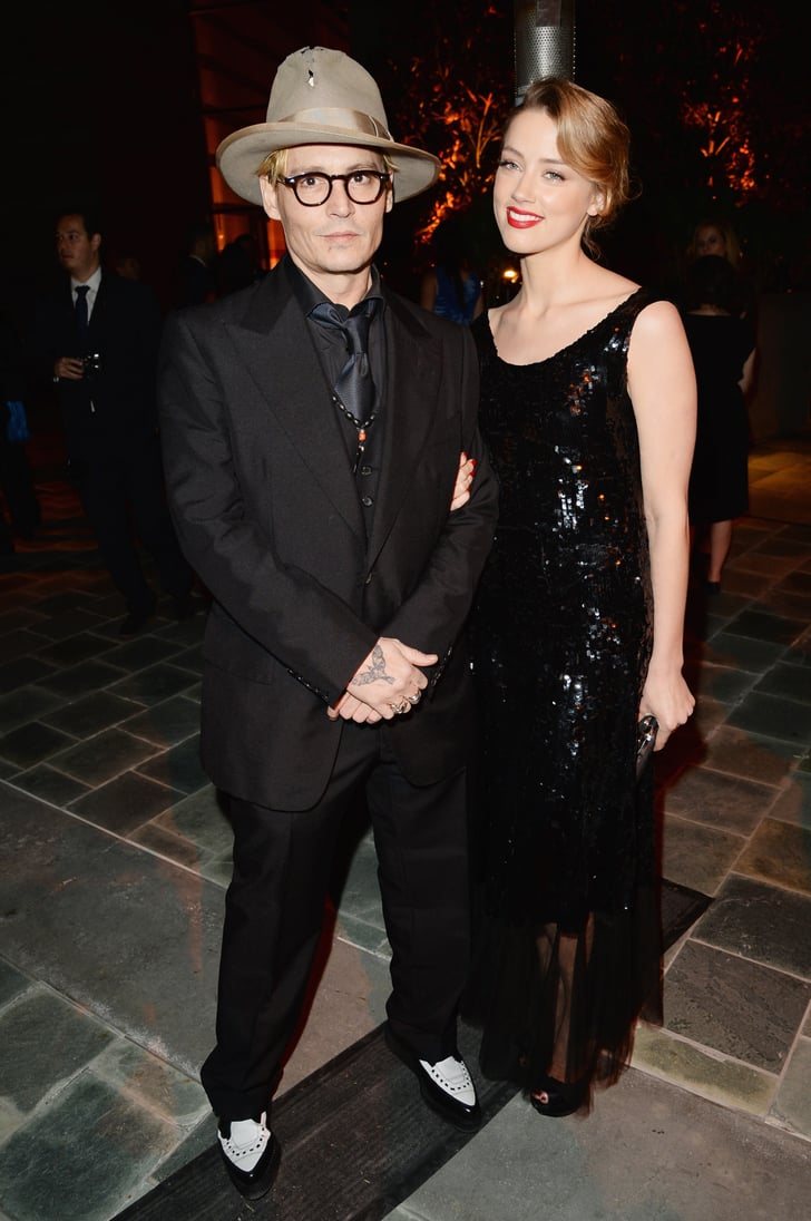 Johnny Depp and Amber Heard kept close to one another during the dinner. Johnny's presence even flustered Linda Perry, who admitted she lost her train of thought during her opening speech after spotting him in the audience!