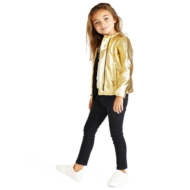 CHaLK NYC Gold Super Soft Metallic Leather Jacket