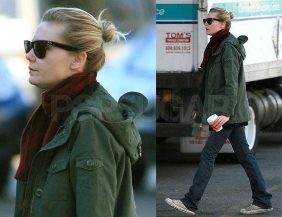 Kirsten Dunst Bundles Up for Those Cold LA Days