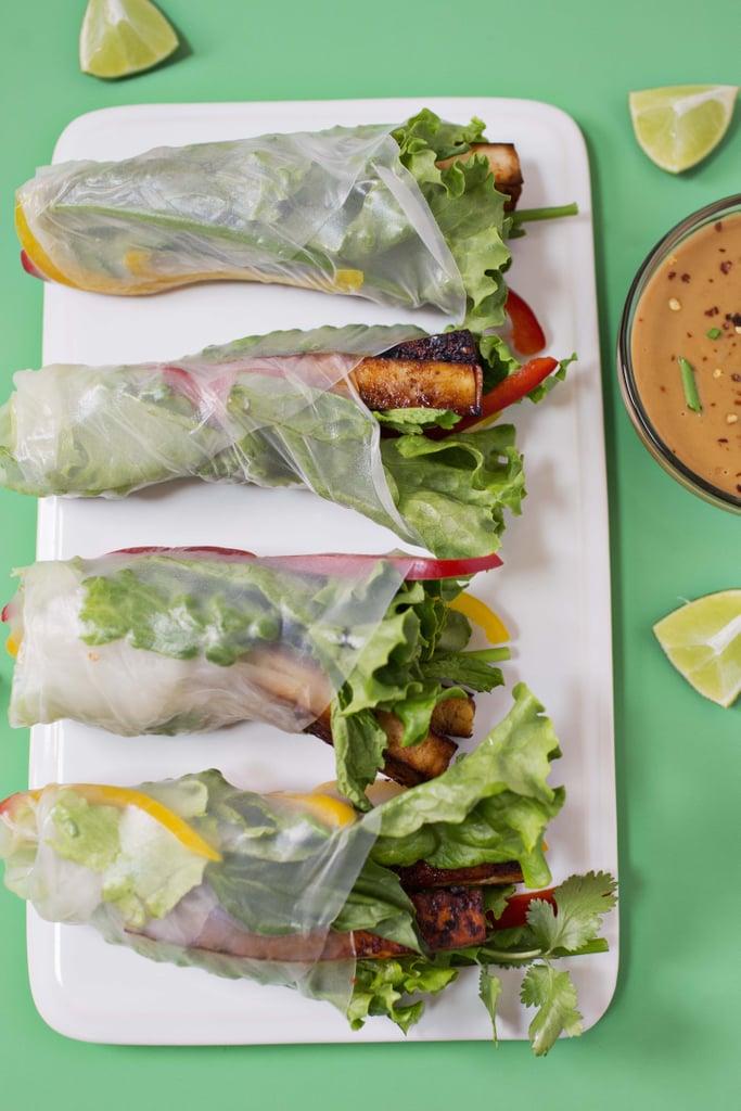 Marinated Spicy Tofu Spring Rolls