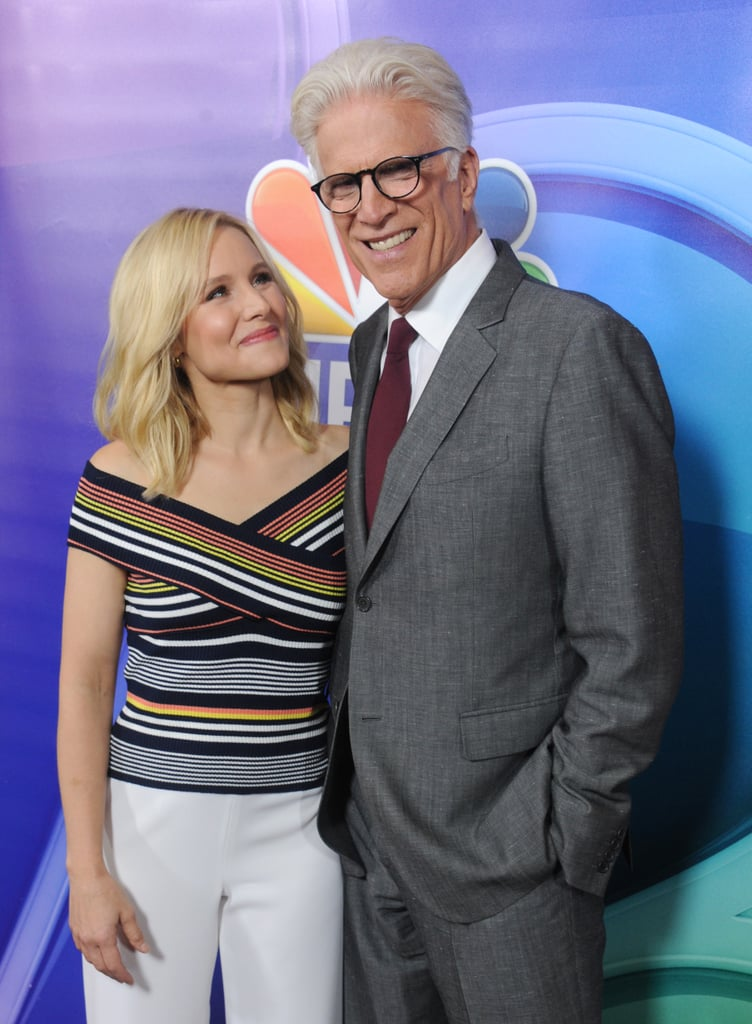 """Kristen Bell and Ted Danson are two of the most beloved actors in Hollywood, so when NBC first announced they were starring on The Good Place together, we knew it was a match made in heaven. In fact, getting to work together was one of the main reasons they signed up for the show in the first place. During Comic-Con in 2018, Kristen gushed about how she was a huge fan of the Damages alum, and that his role on the show was """"huge selling point"""" for her. While their characters, Eleanor and Michael, have had a complicated friendship over the past three seasons, Kristen and Ted's bond has gotten even tighter. During an interview with E! News, Kristen had nothing but kind words to say about her costar, whom she affectionately calls """"Teddy bear."""" """"He just has this sort of old world charm that is infectious,"""" she said about Ted. """"He's not needy at all, he's just happy. There's something very, very special about that. He's a little bit magic.""""  As the two get ready to shine during award season, take a look back at some of their cutest friendship moments ahead.       Related:                                                                                                           They're Friends?! 10 Celebrity Pals That Might Surprise You"""