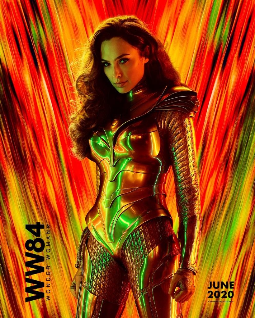 The Wonder Woman sequel looks like it's going to be a blast from the past. Shortly after unveiling the very first trailer for Wonder Woman 1984, Warner Bros. gave us a glimpse of the psychedelic posters that show Diana sporting her brand-new costume. The flashy posters also feature Chris Pine as Steve Trevor (who happens to be alive and well), Kristen Wiig as Dr. Barbara Minerva, aka the villainous Cheetah, and Pedro Pascal as Maxwell Lord.  Although the second installment isn't out until June 5, 2020, it looks like we're in for some exciting adventures this time around. Keep reading for the latest character posters ahead.       Related:                                                                                                           Gal Gadot, Pedro Pascal, and Everyone Else Set to Kick Some Ass in Wonder Woman 2