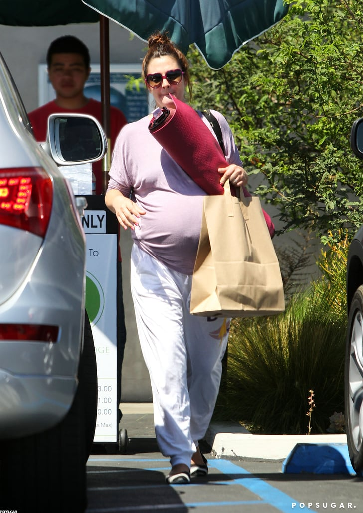 Drew Barrymore Patiently Waits For Baby With Yoga