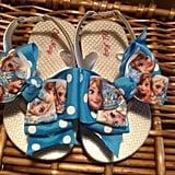 Anna and Elsa Bow Flip-Flops
