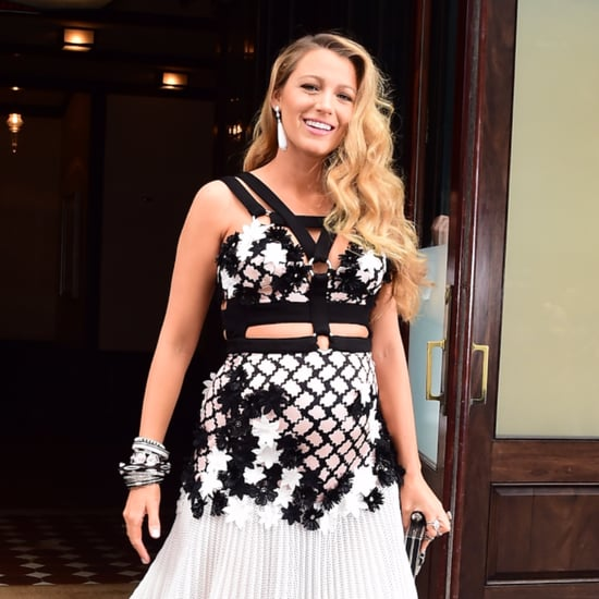 Blake Lively Wearing a Cutout Dress While Pregnant