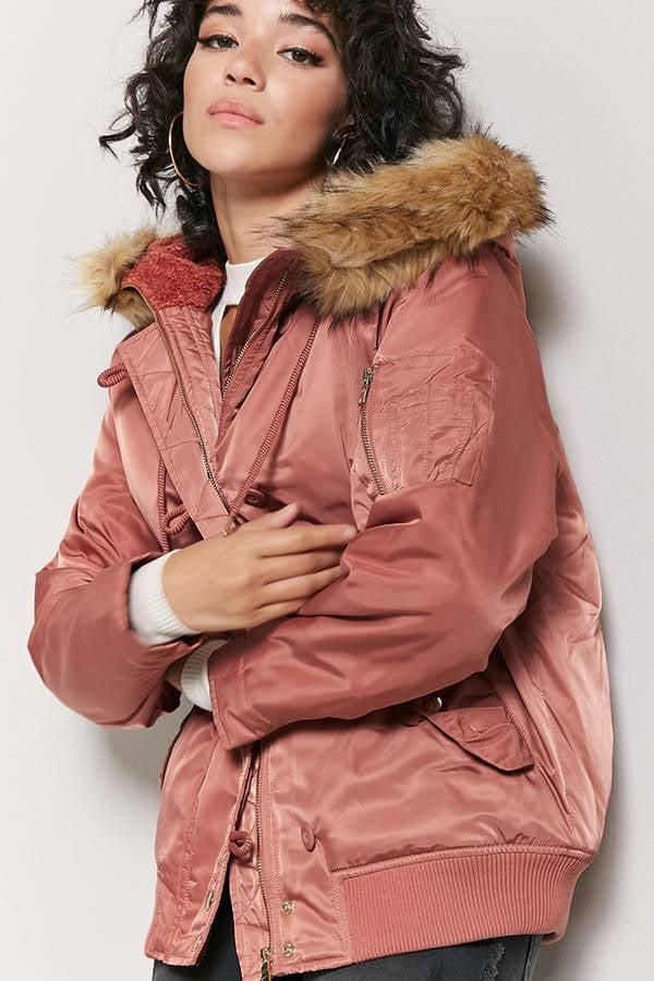 c8f6a211128 Forever 21 Faux Fur-Trimmed Parka Jacket