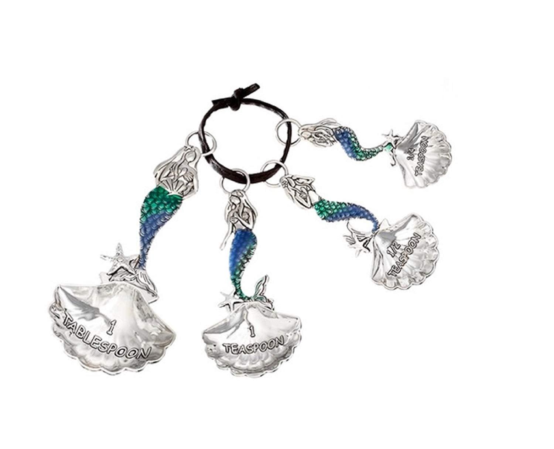 Ganz Silver Tone Mermaid Decorative Measuring Spoon Set  Give