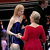 Meryl Streep and Nicole Kidman at the 2018 Oscars