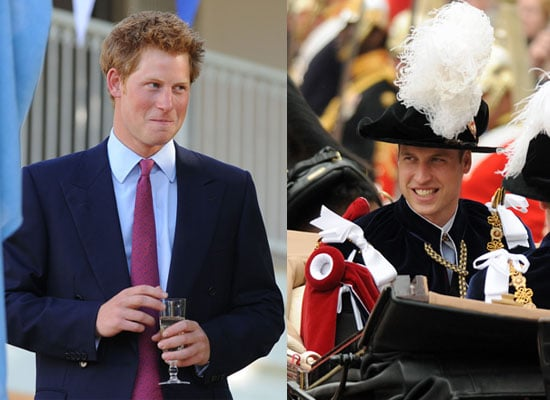 Pictures of Prince William at Order of the Garter Ceremony and Prince Harry in Africa
