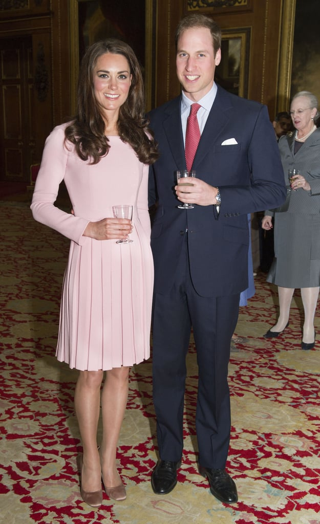 With William by her side, Kate Middleton looked ultrapretty in pink Emilia Wickstead.