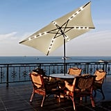 Yescom Rectangle Solar LEDs Patio Umbrella