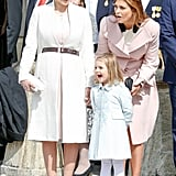 Princess Sofia Opted to Accessorize Her Topper With a Brown Belt