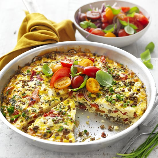 Healthy Lentil and Feta Frittata Recipe