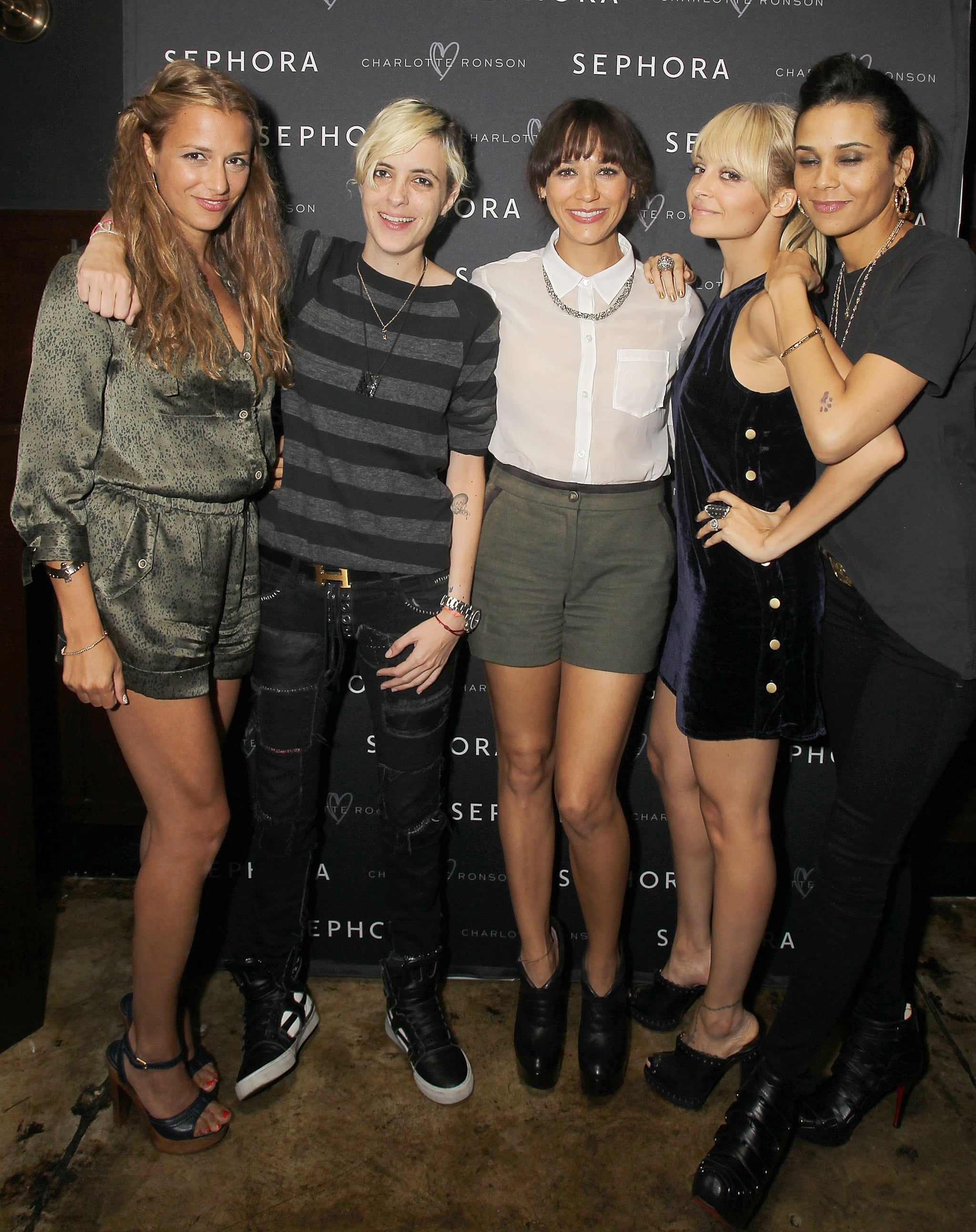 Charlotte Ronson had the support of longtime close friends.