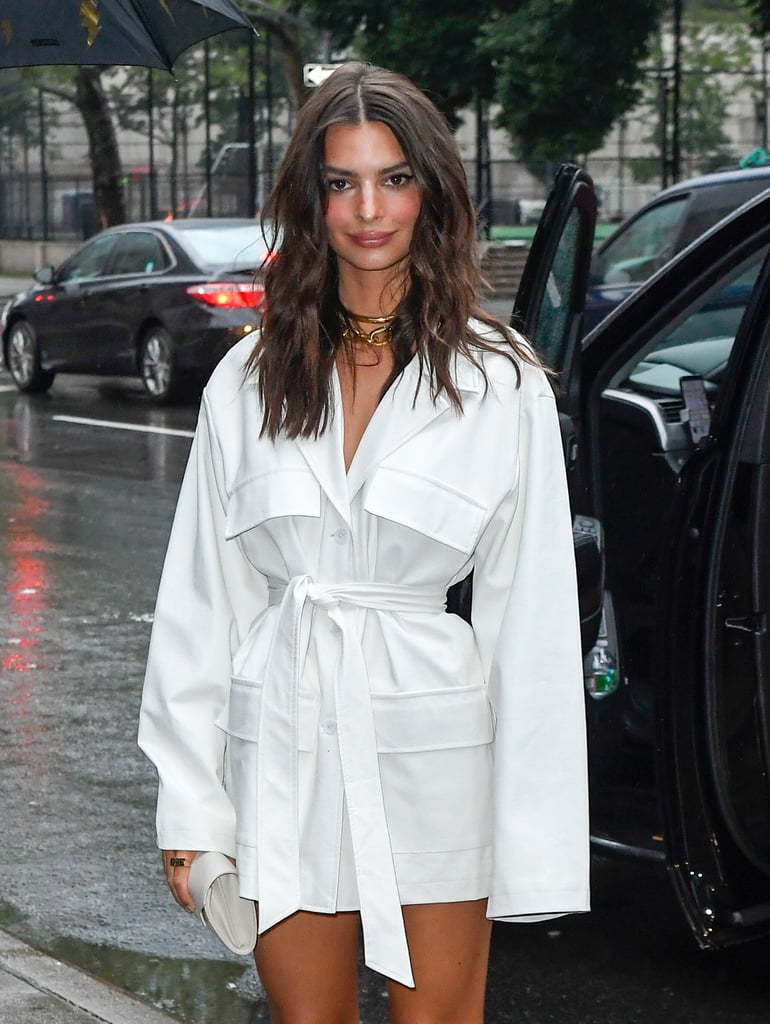 Emily Ratajkowski Wearing a Chunky Chainlink Necklace