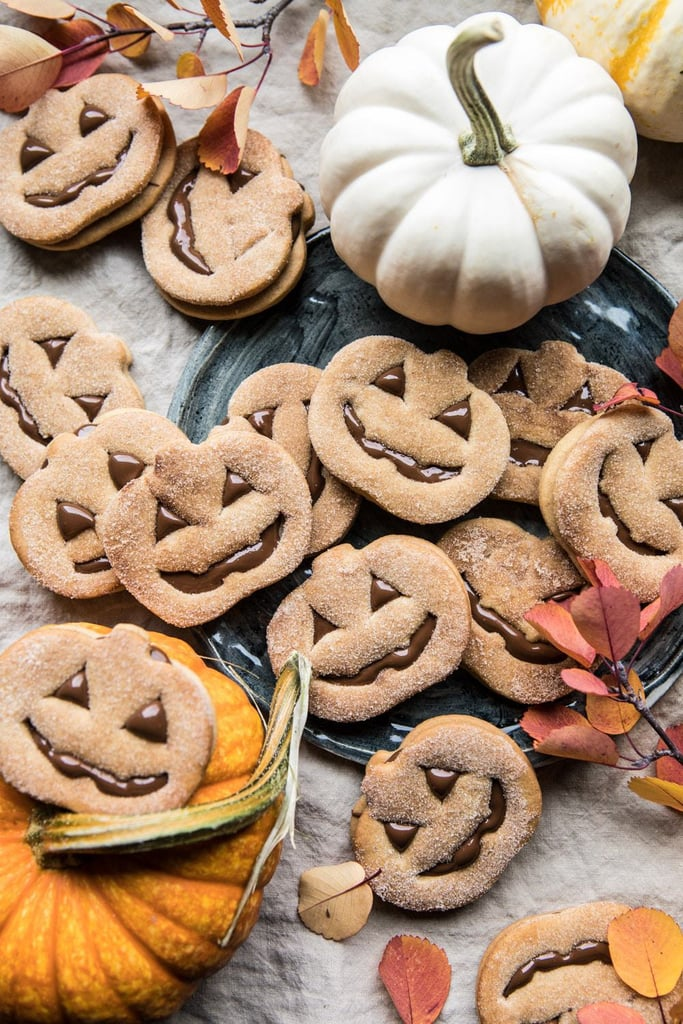 Milk Chocolate-Stuffed Jack-o'-Lantern Cookies