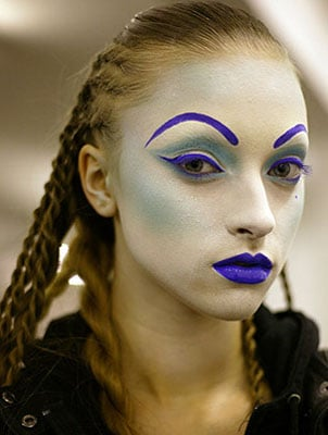 Electric Makeup at the 2008 Fall Gareth Pugh Fashion Show