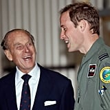 He and William had a laugh during an official visit to the RAF Valley in April 2011.