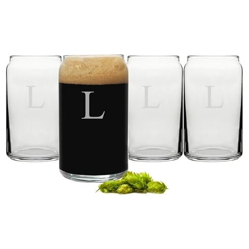 Personalized Craft Beer Can Glasses