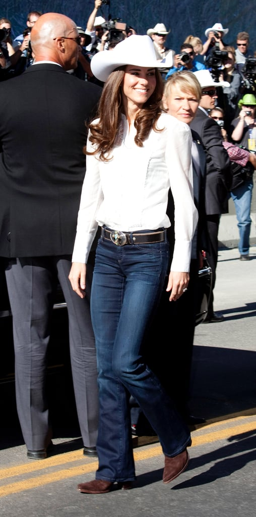 Kate Styled Her Flared Denim With A Cowboy Hat Suede