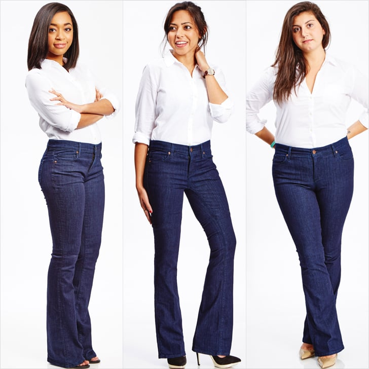 5 Different Women Wore the Same Flared Jeans — and This Is ...