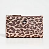 Kate Spade New York Metallic Leopard Slim Bifold Wallet
