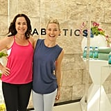 Kate and Nichole Stuart, her Pilates instructor, took a photo together.