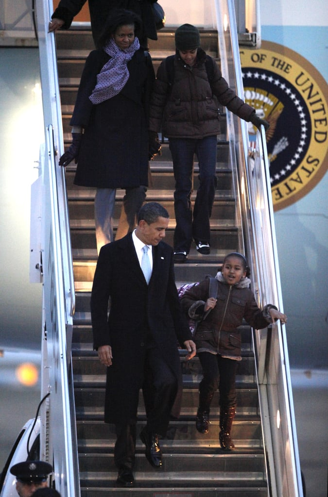 President Obama and Michelle Obama With Malia and Sasha