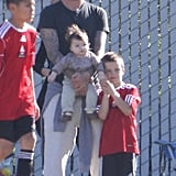 Harper Beckham Steals the Show at Her Big Brother's Soccer Game