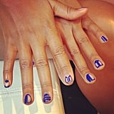 We didn't let Eve leave before we got a snap of her amazing nail art. She also let us in on her airplane beauty secret. Stay tuned for that.  Source: Instagram user POPSUGARBeauty